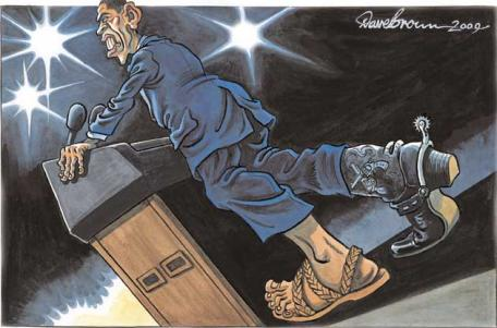 Honduras : Interdit au Président Zelaya Cartoon050609